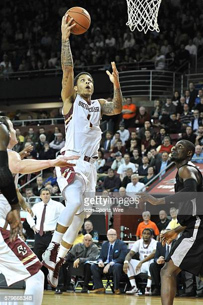 Boston College Eagles guard Dimitri Batten goes up for an easy lay up during the Boston College Eagles game against the Providence College Friars at...