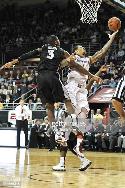 Boston College Eagles guard Dimitri Batten tries to beat Providence Friars guard Kris Dunn to the basket during the Boston Eagles game against the...