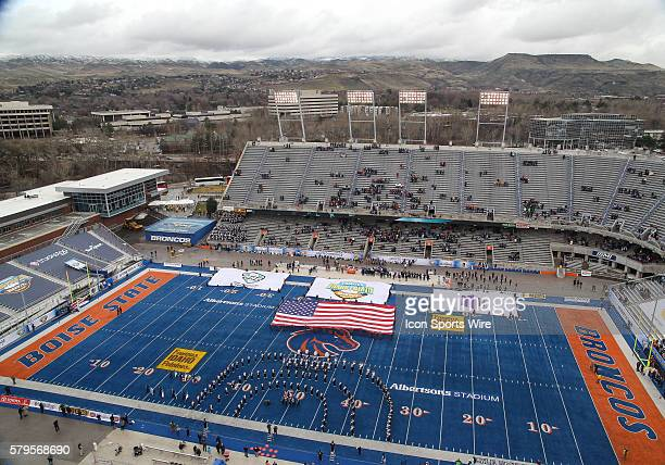 Albertsons Stadium before Famous Idaho Potato Bowl game between the Akron Zips and the Utah State Aggies at Albertsons Stadium in Boise ID
