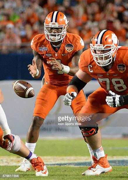 Clemson Tigers quarterback Deshaun Watson in action during the second half at the NCAA College Football Playoff Semifinal at the Capital One Orange...