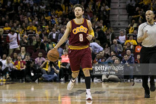 Cleveland Cavaliers Guard Matthew Dellavedova during the game between the Oklahoma City Thunder and the Cleveland Cavaliers at Quicken Loans Arena in...