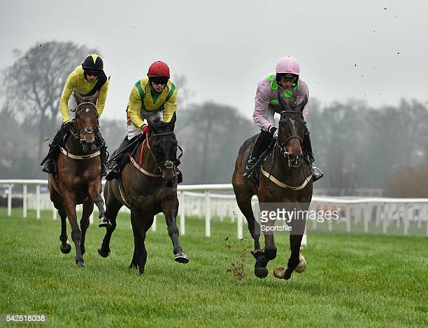 26 December 2015 Douvan right with Patrick Mullins up on the way to winning the Racing Post Novice Steeplechase Leopardstown Christmas Racing...