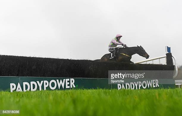 26 December 2015 Douvan with Patrick Mullins up jumping the last on the way to winning the Racing Post Novice Steeplechase Leopardstown Christmas...