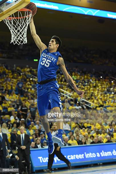Kentucky Derek Willis goes up for a dunk during an NCAA basketball game between the Kentucky Wildcats and the UCLA Bruins at Pauley Pavilion in Los...