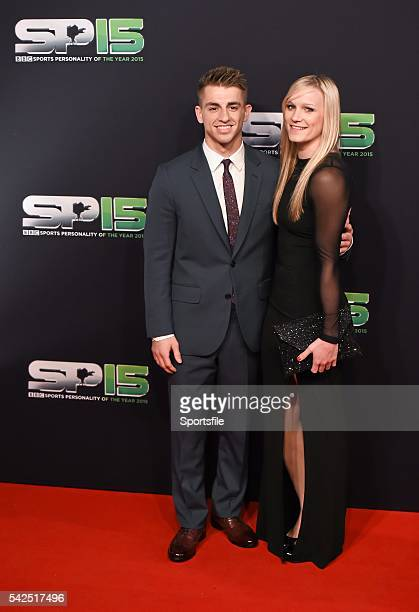 20 December 2015 Max Whitlock and girlfriend Leah Hickton arrive to BBC Sports Personality of the Year 2015 at the Titanic Belfast Titanic Quarter...