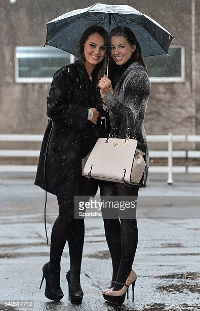 26 December 2015 Racegoers Kate Bennett left from Dalkey with Eve Murray from Dun Laoghaire at the races Leopardstown Christmas Racing Festival...