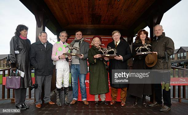 6 December 2015 Ruby Walsh third from left Trainer Willie Mullins right join members of the Durkan family from right Margaret Durkan second from...