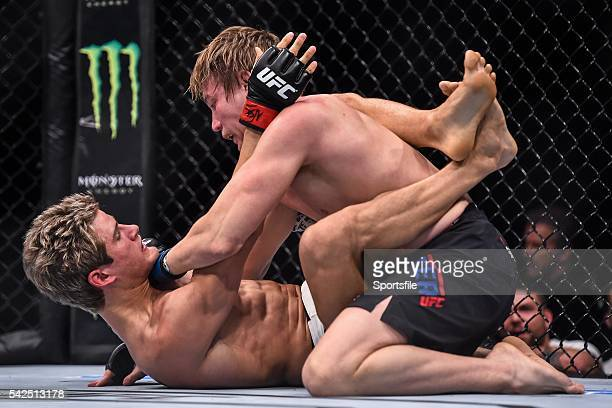 10 December 2015 Sage Northcutt left in action against Cody Pfister during their lightweight bout UFC Fight Night VanZant v Namajunas The Chelsea at...