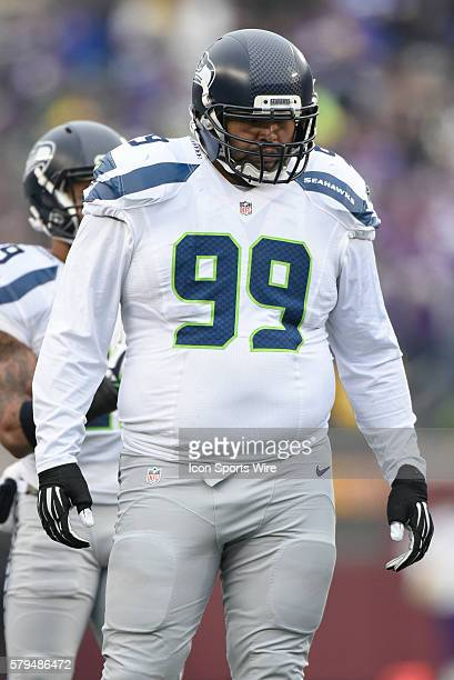 Seattle Seahawks Defensive End AJ Francis [18508] in action during a NFL game between the Minnesota Vikings and the Seattle Seahawks at Mall Of...