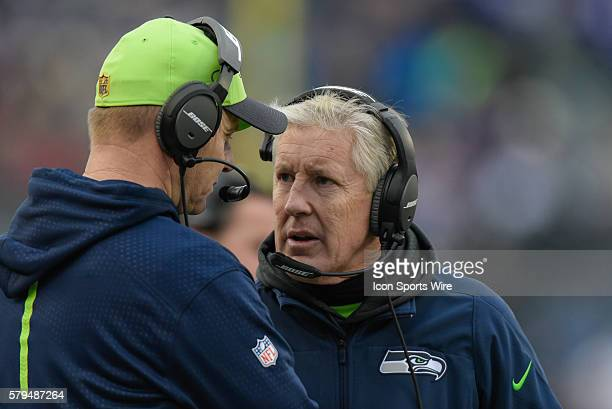 Seattle Seahawks head coach Pete Carroll in action during a NFL game between the Minnesota Vikings and the Seattle Seahawks at Mall Of America Field...