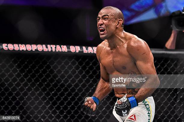 10 December 2015 Sérgio Moraes celebrates defeating Omari Akhmedov in their welterweight bout UFC Fight Night VanZant v Namajunas The Chelsea at The...