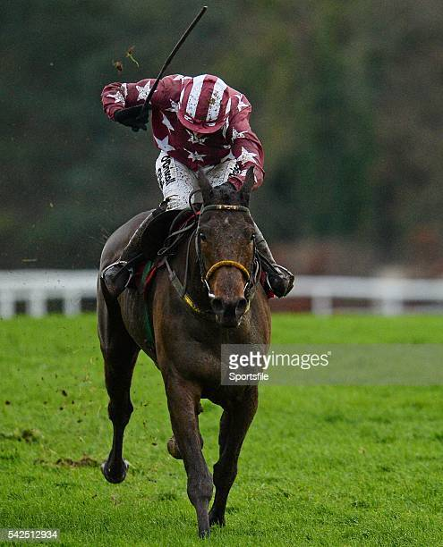 6 December 2015 Tamlough Boy right with Nina Carberry up on their way to winning the Old House Kill Flat Race Horse Racing from Puncherstown...