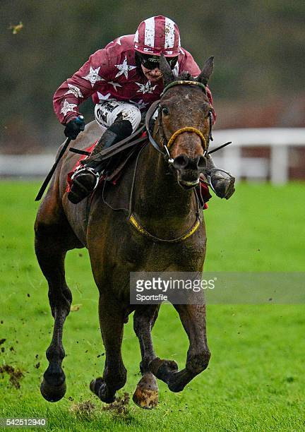 6 December 2015 Tamlough Boy with Nina Carberry up on their way to winning the Old House Kill Flat Race Horse Racing from Puncherstown Punchestown Co...