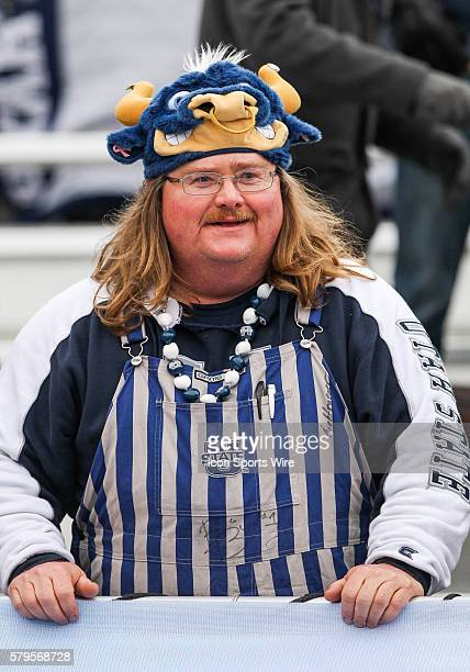 Utah State Aggies Fan during Famous Idaho Potato Bowl game between the Akron Zips and the Utah State Aggies at Albertsons Stadium in Boise ID