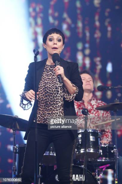 Singer Francine Jordi performs during the dress rehearsal of the ARD show Silvester Show The programme will be broadcast live on ARD and ORF on Photo...
