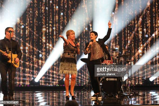 The music group Middle of the Road and singer Francine Jordi perform during the dress rehearsal of the ARD show Silvester Show The programme will be...