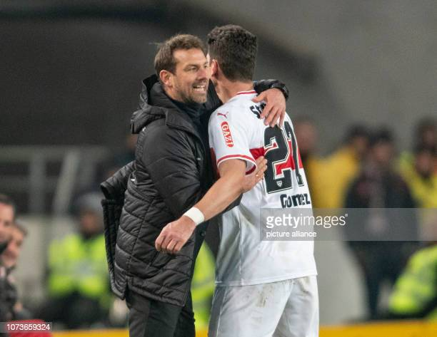 15 December 2018 BadenWuerttemberg Stuttgart Soccer Bundesliga VfB Stuttgart Hertha BSC 15th matchday MercedesBenz Arena Stuttgart coach Markus...