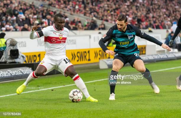 15 December 2018 BadenWuerttemberg Stuttgart Soccer Bundesliga VfB Stuttgart Hertha BSC 15th matchday MercedesBenz Arena Stuttgart's Chadrac Akolo...