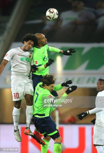 Soccer Bundesliga FC Augsburg FC Schalke 04 15th matchday in the WWKArena Schalkes Naldo fights with Augsburg's Caiubyda Silva for the ball Photo...