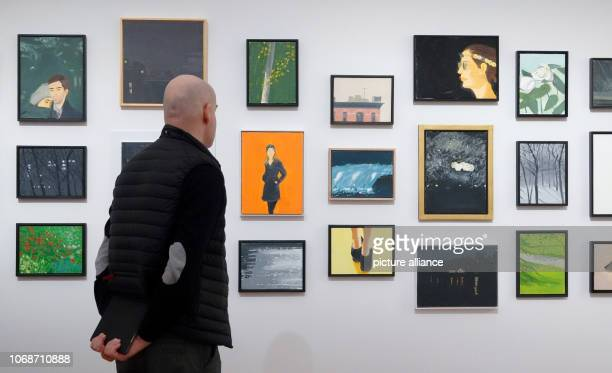 During a press preview at the Brandhorst Museum a man looks at pictures in the retrospective 'Alex Katz' The exhibition 'Alex Katz' shows from to...