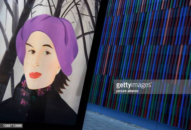 The picture 'January 7' by Alex Katz can be seen on a poster in front of the Brandhorst Museum The exhibition 'Alex Katz' shows from to about 80...