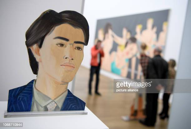 The sculpture Hiroshi by Alex Katz can be seen at the Museum Brandhorst during a press preview in the retrospective 'Alex Katz' The exhibition 'Alex...