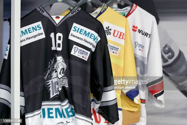 Jerseys of the teams participating in the Spengler Cup 2018 will be displayed during the press conference of the tournament The Spengler Cup 2018...