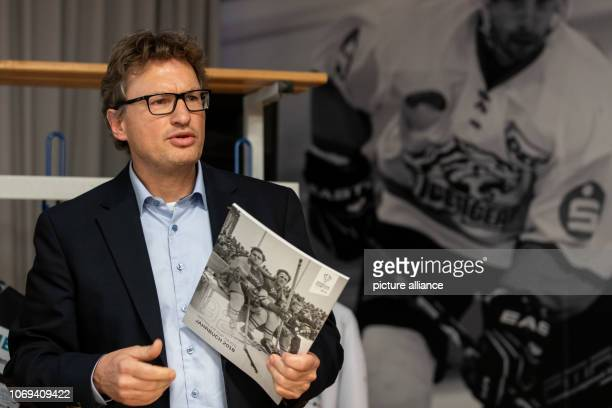 Markus Glarner media director of the Sprengler Cup will speak during the press conference for the Spengler Cup 2018 which will take place from 26 31...