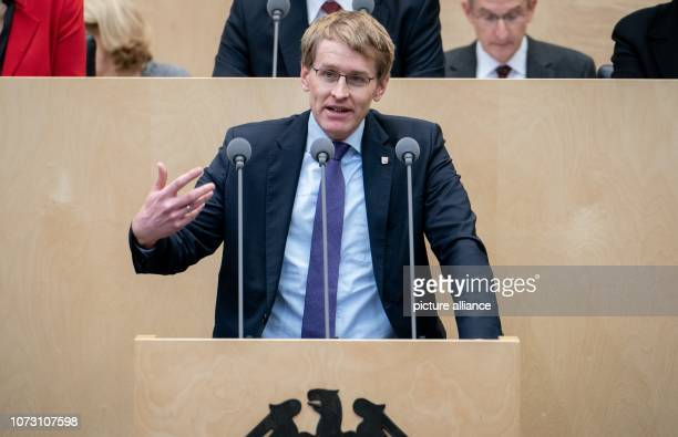 Daniel Günther Prime Minister of SchleswigHolstein and President of the Bundesrat speaks at the meeting of the Bundesrat In the last session of the...