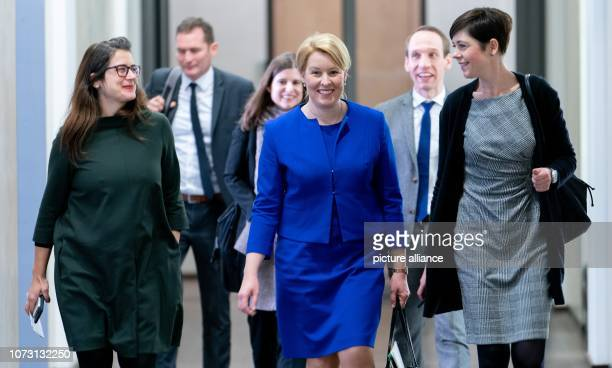 Franziska Giffey Federal Minister for Family Affairs Senior Citizens Women and Youth and her colleagues are leaving the Federal Council after the...