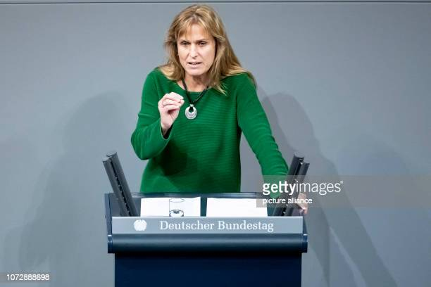 Katja Keul member of the German Bundestag speaks on the motion '§ 219a StGB immediately delete information about abortions allow' in the German...