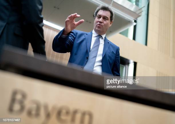 Markus Söder Prime Minister of Bavaria attends the meeting of the Bundesrat In the last session of the year the regional chamber finally deals with...