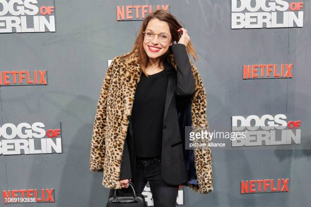 The actress Anna Julia Kapfelsperger comes to the cinema International for the film premiere of the Netflix series 'Dogs of Berlin' Photo Annette...