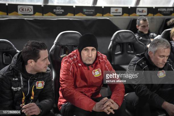 Football Europa League Group Phase Group A 6th Matchday Larnaca Bayer Leverkusen at the GSP Stadium Heiko Herrlich coach of Leverkusen on the bench...