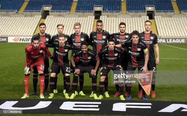 Football Europa League Group Phase Group A 6th Matchday Larnaca Bayer Leverkusen in the GSP Stadium the players from Leverkusen at the group photo...