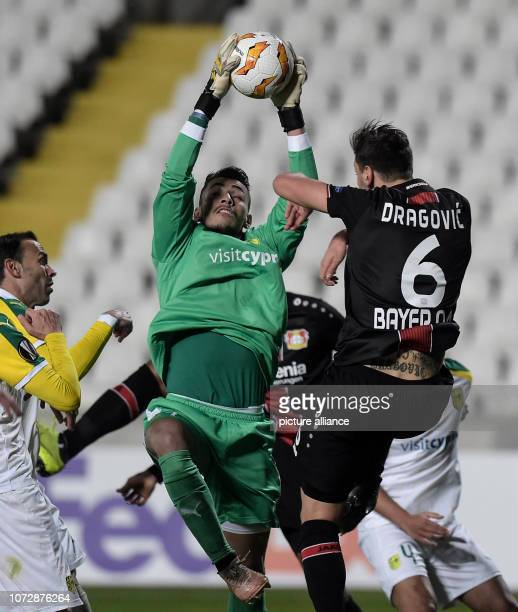 Football Europa League Group Phase Group A 6th Matchday Larnaca Bayer Leverkusen at the GSP Stadium goalkeeper Andreas Christodoulou of Larnaka...
