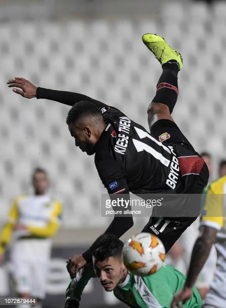 Soccer Europa League Group stage Group A Matchday 6 AEK Larnaca Bayer Leverkusen at the GSP Stadium Isaac Kiese Thelin of Leverkusen and goalkeeper...