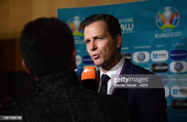 2 December 2018 DFB Director Oliver Bierhoff during post draw flash reactions following the UEFA EURO2020 Qualifying Draw at the Convention Centre in...