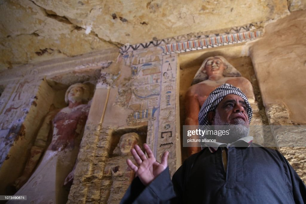 Tomb of Fifth Dynasty royal priest discovered in Egypt's Saqqara : News Photo