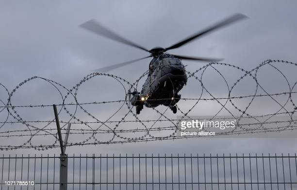 A helicopter of the Federal Police to which a woman had previously been taken takes off at Hamburg Airport The Attorney General has arrested a...