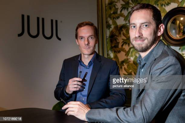 James Monsees and Adam Bowen founder of the ecigarette manufacturer Juul look into the photographer's camera at the Hotel Tortue Juul is the market...