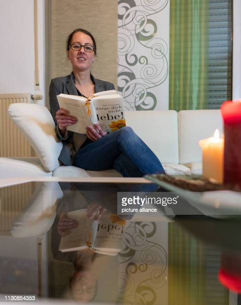 Esther Stark sits on the sofa of her apartment where she also writes her blog 'estherloveslife' In it she shares thoughts and suggestions for the...