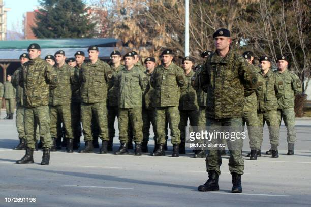 A battalion of the Kosovo Security Forces is standing in one place at the flag roll call On December 14 the Kosovo parliament wants to take the...