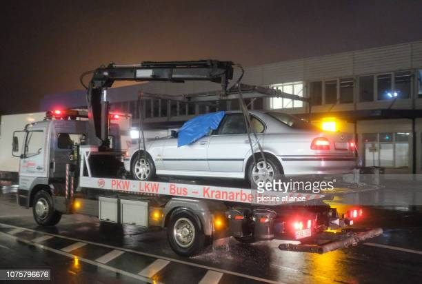 A car is being transported to the airport With this car a man had broken through a gate and drove onto the apron Following the incident air traffic...