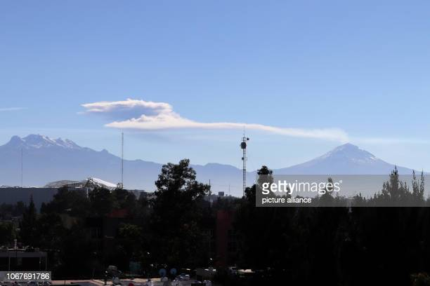Smoke clouds can be seen above the volcano Popocatepetl in the highlands between Puebla and Mexico City The volcano erupted early in the morning...