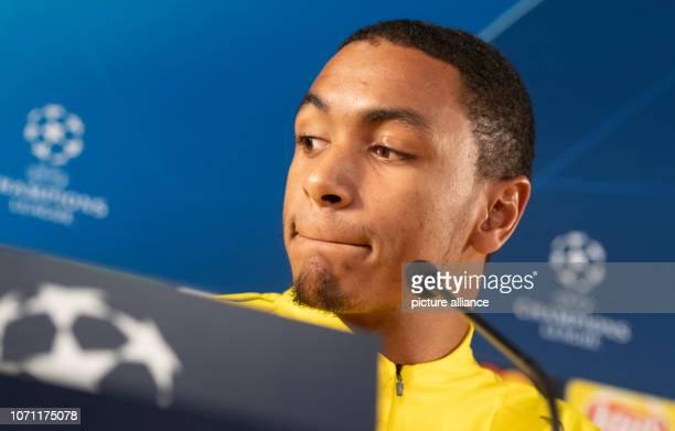 Soccer Champions League before the 6th matchday AS Monaco Borussia Dortmund in the Stade Louis II Borussia Dortmund's Abdou Diallo speaks at a press...