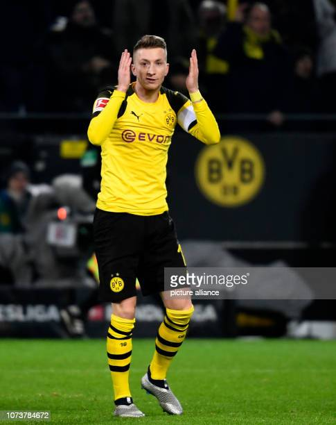 15 December 2018 North RhineWestphalia Dortmund Soccer Bundesliga Borussia Dortmund Werder Bremen 15th matchday at Signal Iduna Park Marco Reus of...