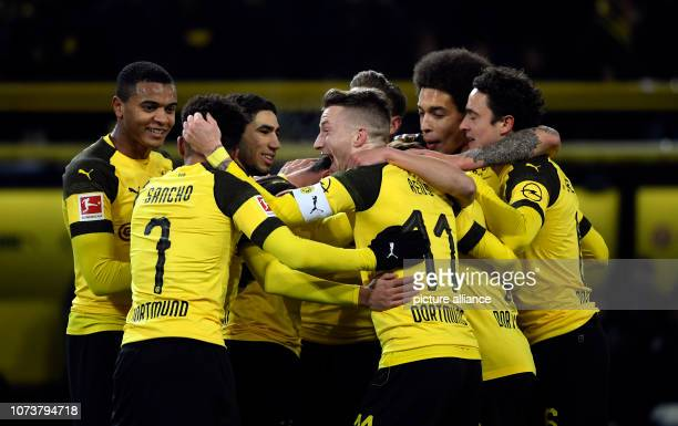15 December 2018 North RhineWestphalia Dortmund Soccer Bundesliga Borussia Dortmund Werder Bremen 15th matchday at Signal Iduna Park Paco Alcacer...