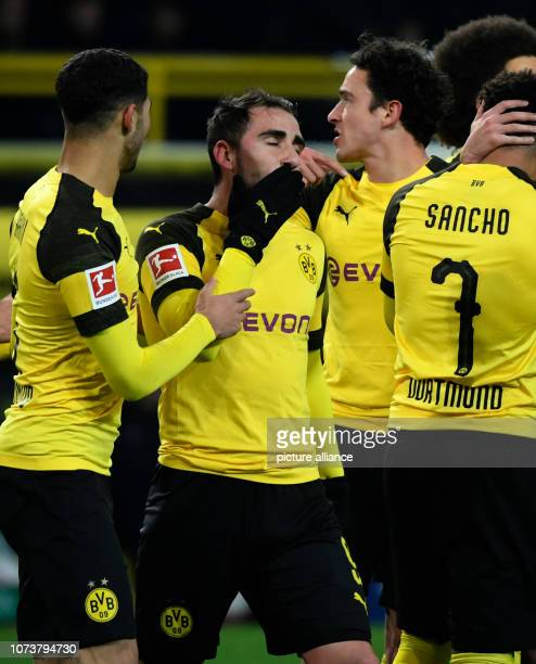 15 December 2018 North RhineWestphalia Dortmund Soccer Bundesliga Borussia Dortmund Werder Bremen 15th matchday at Signal Iduna Park Paco Alcacer of...