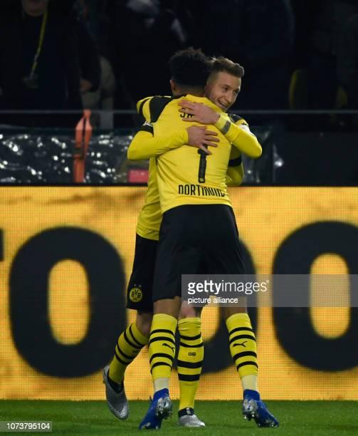 15 December 2018 North RhineWestphalia Dortmund Soccer Bundesliga Borussia Dortmund Werder Bremen 15th matchday at Signal Iduna Park Jadon Sancho and...